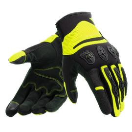 AEROX UNISEX GLOVES BLACK/FLUO-YELLOW- Guantes
