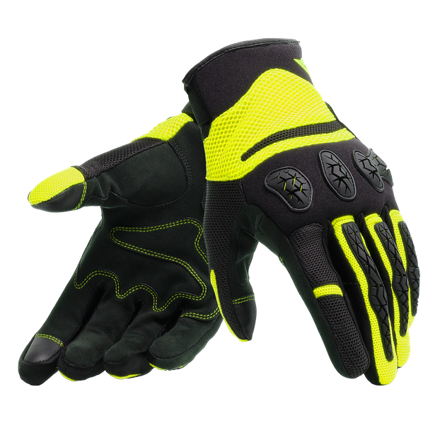 AEROX UNISEX GLOVES BLACK/FLUO-YELLOW- Textile