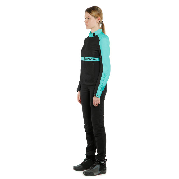 RIBELLE AIR LADY TEX JACKET BLACK/ACQUA-GREEN- undefined