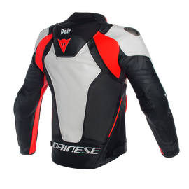 Misano D-air® Perforated jacket WHITE/BLACK/RED-FLUO- Jacken