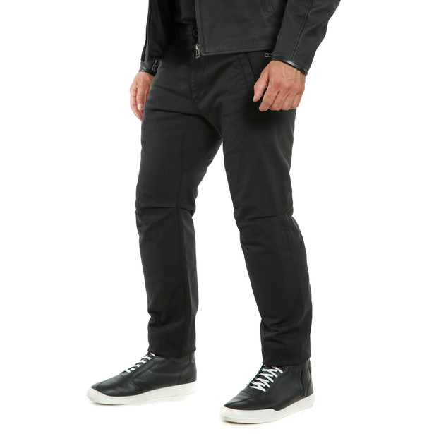 CHINOS TEX PANTS BLACK- Pantalons