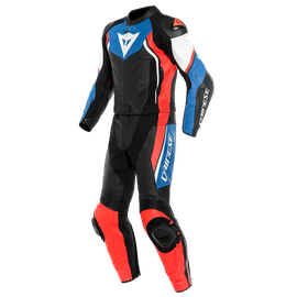 AVRO D2 2 PCS SUIT BLACK/LIGHT-BLUE/FLUO-RED