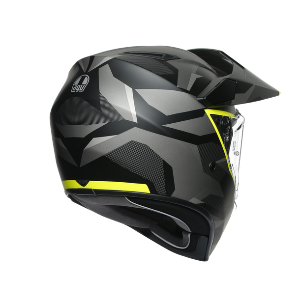 AX9 MULTI E2205 - SIBERIA MATT BLACK/YELLOW FLUO - AX9