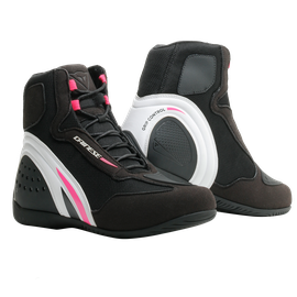 MOTORSHOE D1 AIR LADY BLACK/WHITE/FUCHSIA- Pelle