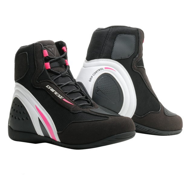 MOTORSHOE D1 AIR LADY BLACK/WHITE/FUCHSIA- Textile