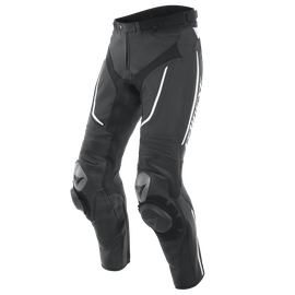 ALPHA PERF. LEATHER PANTS BLACK/BLACK/WHITE- Leather