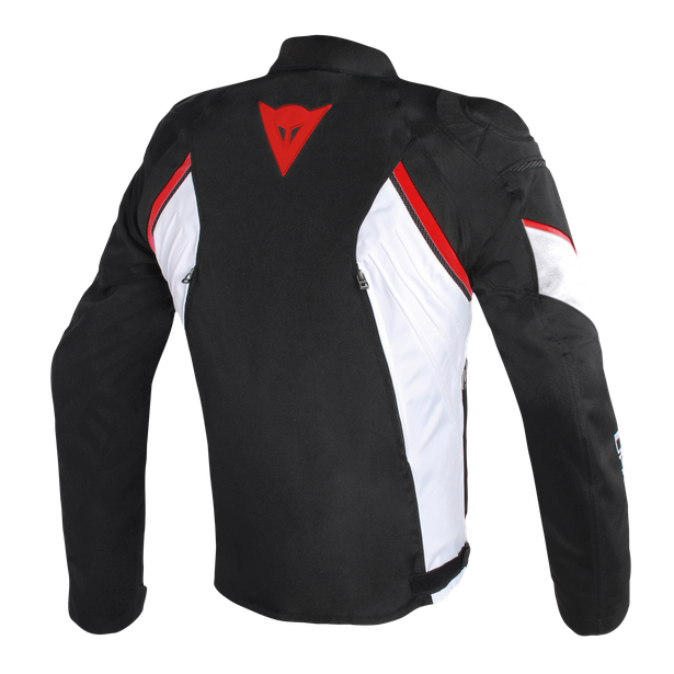 AVRO D2 TEX JACKET BLACK/WHITE/RED- Textile