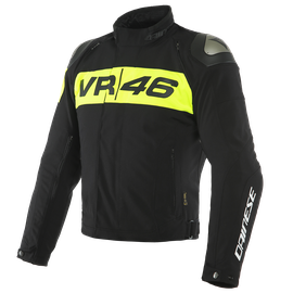 VR46 PODIUM D-DRY® JACKET BLACK/FLUO-YELLOW