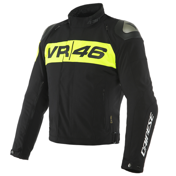 VR46 PODIUM D-DRY® JACKET BLACK/FLUO-YELLOW- VR46