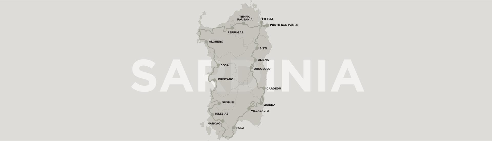 Dainese Sardinia route map