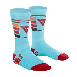 HG HALLERBOS SOCKS LIGHT-BLUE/RED- New arrivals