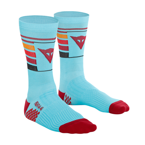 HG HALLERBOS SOCKS LIGHT-BLUE/RED- Bike para èl