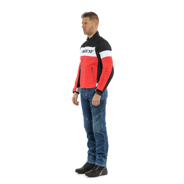 SAETTA D-DRY JACKET WHITE/LAVA-RED/BLACK- D-Dry®