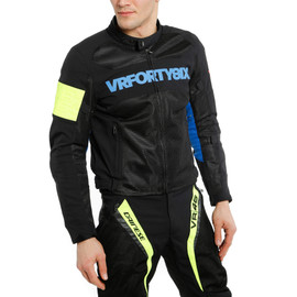 VR46 GRID AIR TEX JACKET BLACK/PRINCESS-BLUE/FLUO-YELLOW- undefined