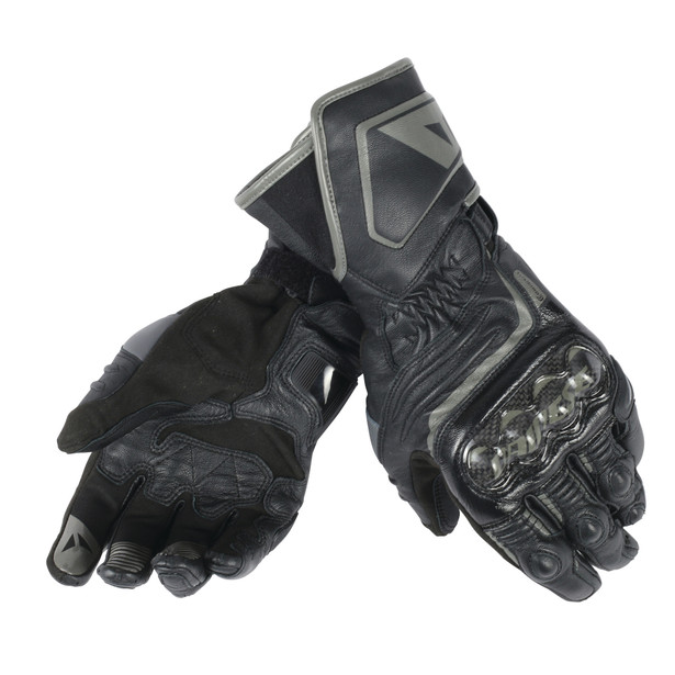 CARBON D1 LONG GLOVES BLACK/BLACK/BLACK- Leder