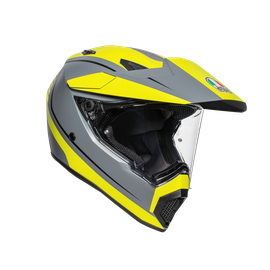 AX9 MULTI ECE DOT - PACIFIC ROAD MATT GREY/YELLOW FLUO/BLACK