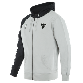 RACING SERVICE FULL-ZIP HOODIE GLACIER-GRAY/BLACK- Lifestyle