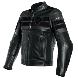 8-TRACK LEATHER JACKET BLACK/BLACK/BLACK