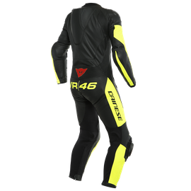 VR46 TAVULLIA 1PC LEATHERSUIT PERF. BLACK/FLUO-YELLOW- VR46