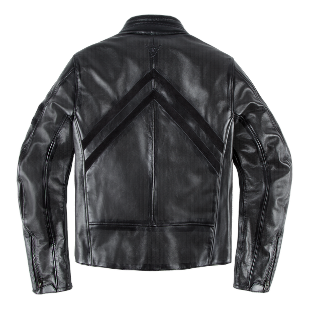 FRECCIA72 PERF. LEATHER JACKET BLACK/BLACK- Dainese72
