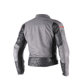 BLACKJACK LEATHER JACKET SMOKE/MAGNESIUM/BLACK- Jacken