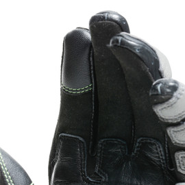CARBON 3 SHORT GLOVES BLACK/CHARCOAL-GRAY/FLUO-YELLOW- Gloves