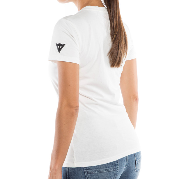 DAINESE LADY T-SHIRT WHITE/BLACK- T-Shirts