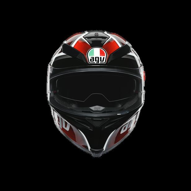 K5 S MULTI ECE DOT - TEMPEST BLACK/RED -