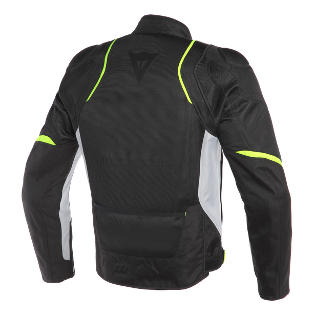 AIR MASTER TEX JACKET BLACK/GLACIER-GRAY/FLUO-YELLOW- Textile