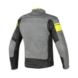 BLACKJACK PERFORATED LEATHER JKT SMOKE/YELLOW/BLACK- Jackets