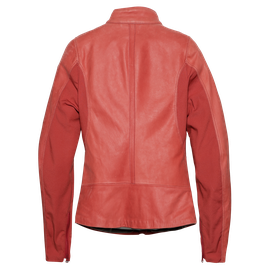 DJANET LADY LEATHER JACKET POMPEIAN-RED- Leather