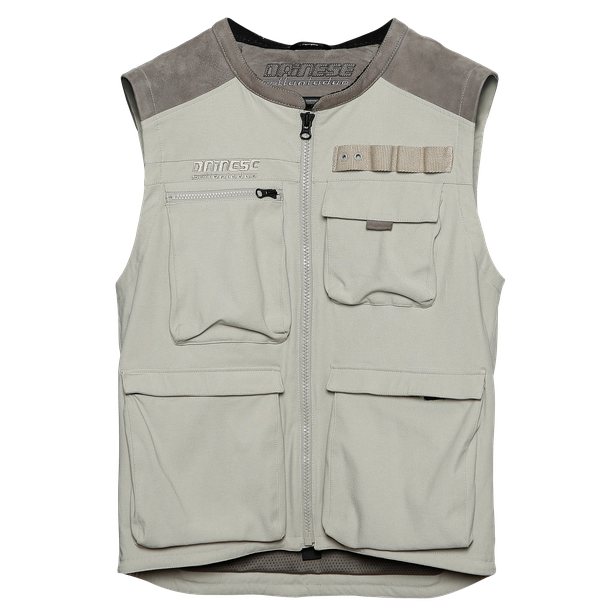 DJADO TEX VEST MOREL/FEATHER-GRAY- Textile