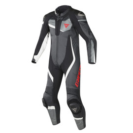 VELOSTER 1 PIECE PERFORATED SUIT BLACK/ANTHRACITE/WHITE
