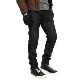 DENIM SLIM TEX PANTS BLACK- Pantalones