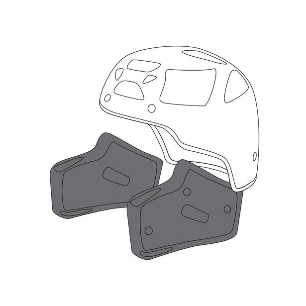 AGV CHEEK PADS AX-8 DUAL EVO (XXXL) - undefined