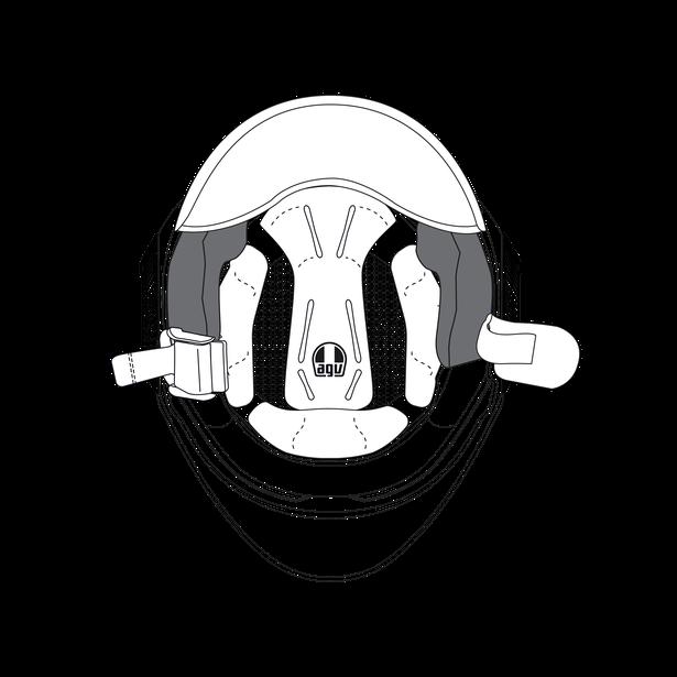 AGV CHEEK PADS ORBYT (XL) - GREY/BLACK - Accessories
