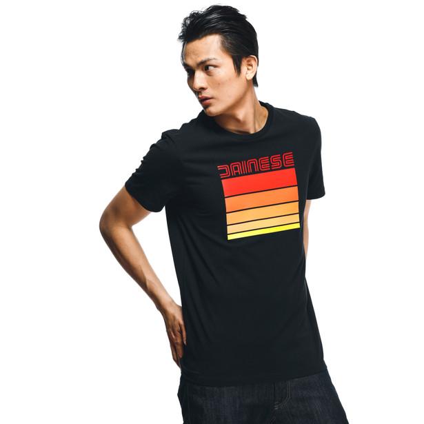 STRIPES T-SHIRT BLACK/RED- T-Shirts
