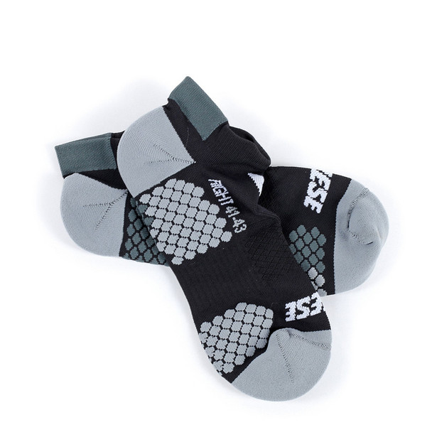 D-CORE FOOTIE SOCK BLACK/ANTHRACITE- Technical Layers