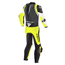 LAGUNA SECA 4 1PC PERF. LEATHER SUIT WHITE/BLACK/FLUO-YELLOW- Professionali