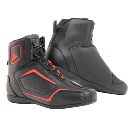 RAPTORS AIR SHOES BLACK/BLACK/FLUO-RED- Textile