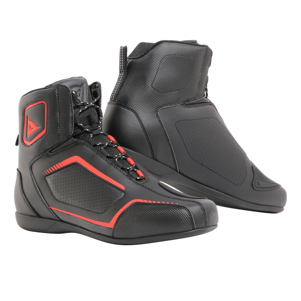 RAPTORS AIR SHOES BLACK/BLACK/FLUO-RED- Leder