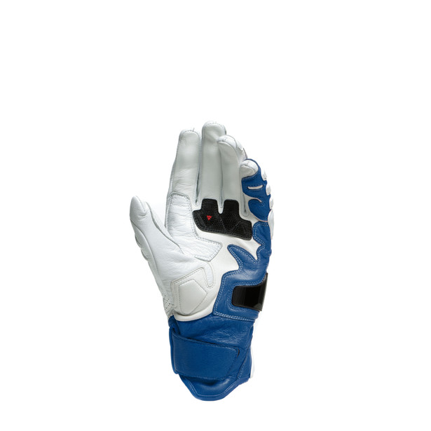 4-STROKE 2 GLOVES WHITE/LIGHT-BLUE- Pelle
