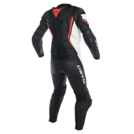 ASSEN 2 PCS PERF. SUIT BLACK/WHITE/FLUO-RED- Zweiteiler