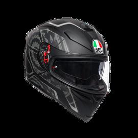 K5 S E2205 MULTI - TORNADO MATT BLACK/SILVER