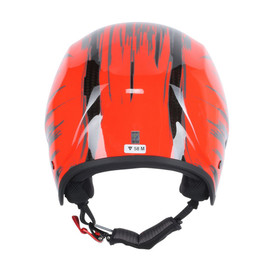 GT CARBON WC HELMET CARBON/FLUO-RED- Helme