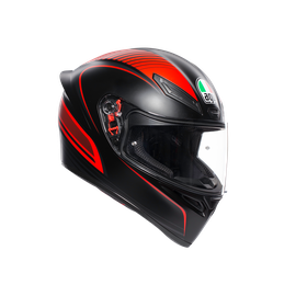K1 MULTI ECE DOT - WARMUP MATT BLACK/RED