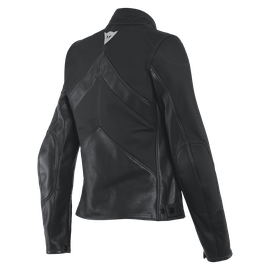 SANTA MONICA LADY LEATHER JACKET BLACK- undefined