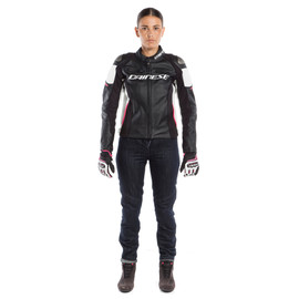 RACING 3 LADY LEATHER JACKET - Motorbike per lei
