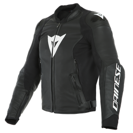 SPORT PRO LEATHER JACKET PERF. BLACK/WHITE