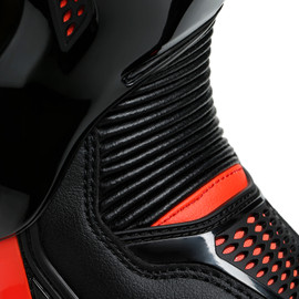 TORQUE 3 OUT BOOTS BLACK/FLUO-RED- Leather